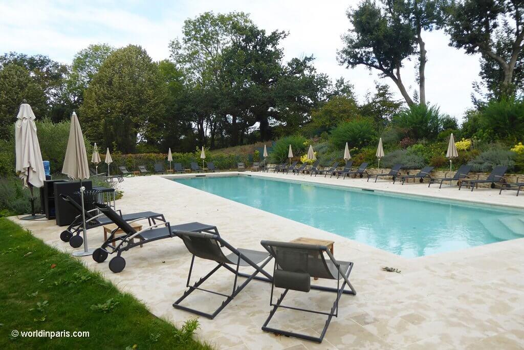 Outdoor Pool at Château de Villiers