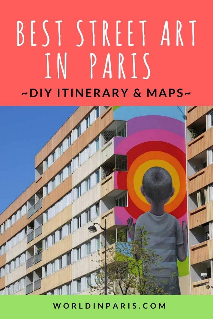 Best Street Art in Paris, Giant Murals in Paris, Paris Street Art, Paris Urban Art, Graffiti in Paris #streetart #moveablefeast