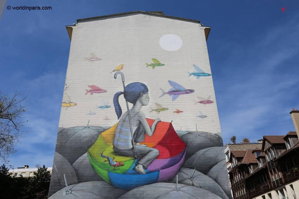 Street Art Paris 13 Butte Aux Cailles The Mural Program World