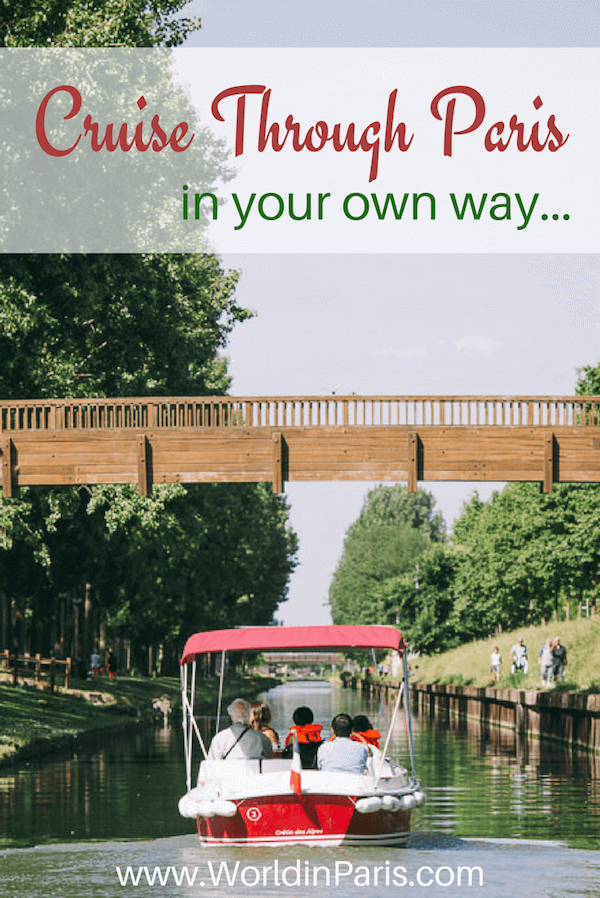 Looking for unusual things to do in Paris? Sail through Canal de Saint Martin & Canal de l'Ourcq in your own way with Marin d Eau Douce 's boats, no license required! | Paris activities | Paris off the beaten path