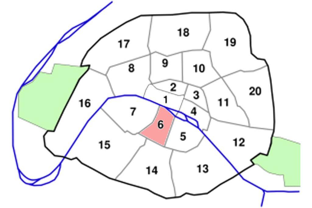 Arrondissements Map - Paris 6