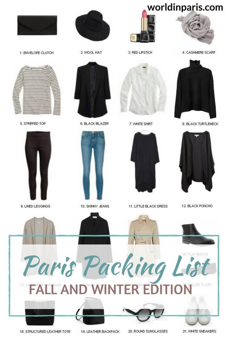 Paris Packing List, What to Wear in Paris in Winter, Shoes to Wear in Paris, Packing for Paris, Paris Travel Essentials #parispackinglist #parisoutfits #parislikealocal #paris
