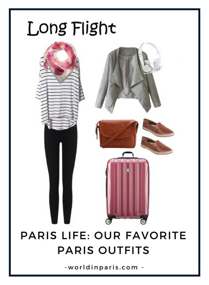 Paris Outfits - Long Flight to Paris