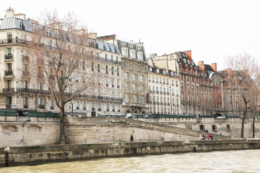 Walk along the Seine River