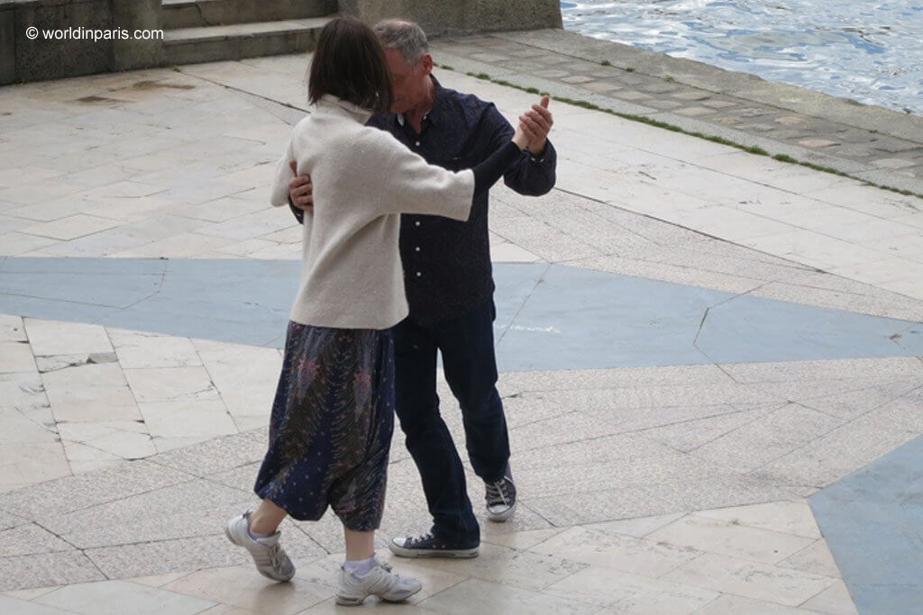 tango by the Seine River