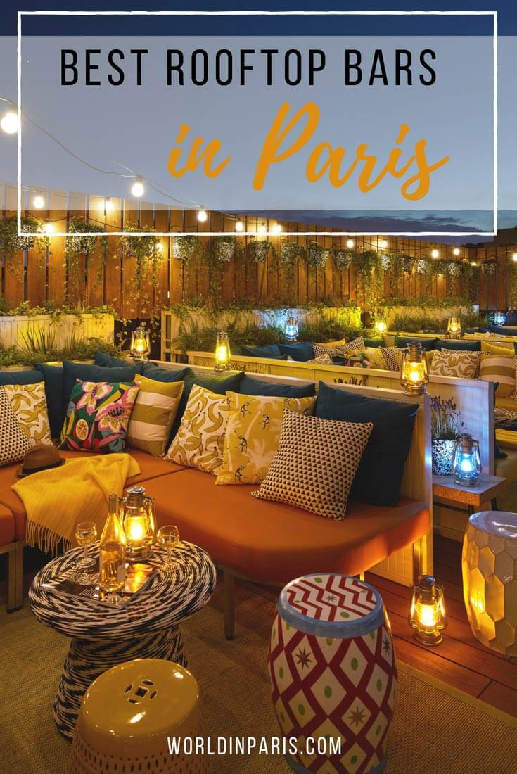 best rooftop bars in Paris, best Paris rooftop bars, rooftops of Paris, best views of Eiffel Tower, Paris skyline, best Paris sky bars, Paris City View, bars with view of Eiffel Tower, Paris at night #paris #parisatnight #moveablefeast