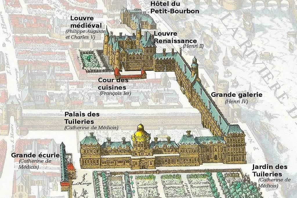 Evolution Louvre Palace