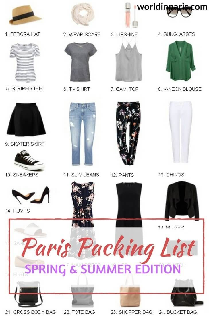 33cdcb16dcb Paris Packing List, What to Take for Paris, What to Wear in Paris in