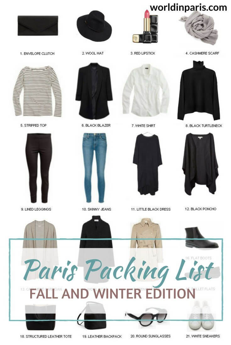 What To Wear In Paris Paris Packing List Fall Winter World In Paris