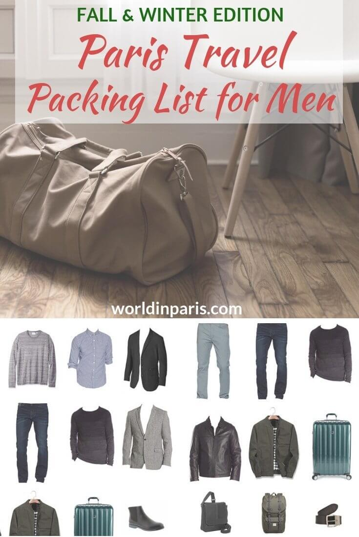 Paris Travel Packing List for Men (Fall   Winter) – World In Paris dcb93bcbcbb0