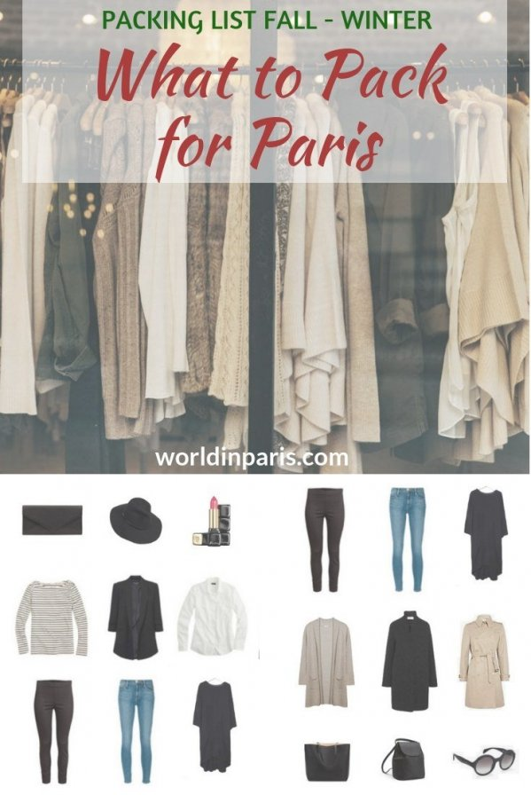 What to wear in Paris: Packing List Fall & Winter – World In