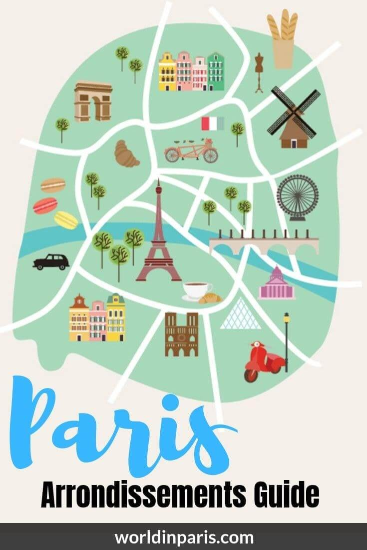 Map Of Paris France 6th Arrondissement.Guide To The Arrondissements Of Paris Paris Districts As Seen By