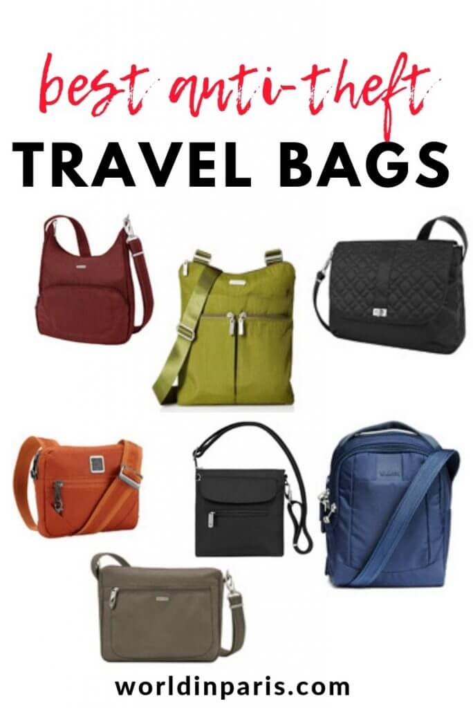 Best Anti-Theft Travel Bags, Safe Travels, Secure Travel Bags, Best anti theft cross body travel bag, anti theft crossbody travel bag, Best theft proof travel bags, Best anti theft shoulder bag #travelgifts