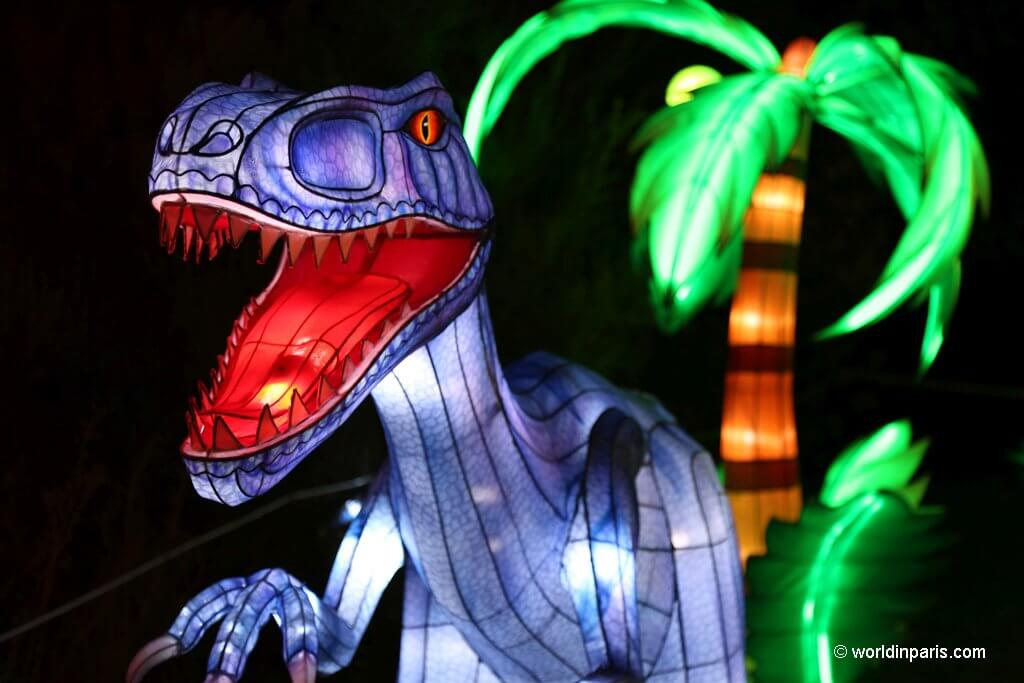 Lights Festival Paris - dinosaur