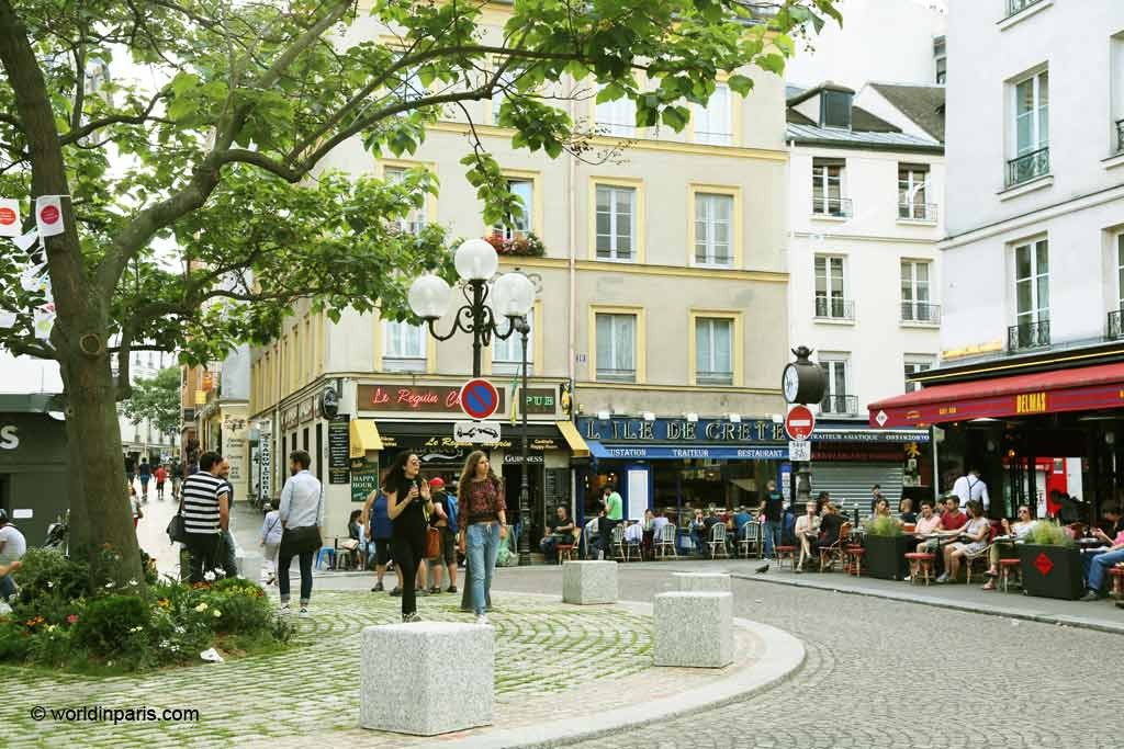 Place Contrescarpe - Heminway in Paris Walking Tour
