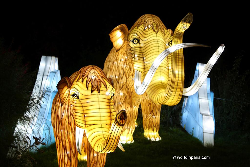 Festival of Lights at Jardin des Plantes, Paris: Espèces en Voie d'Illumination