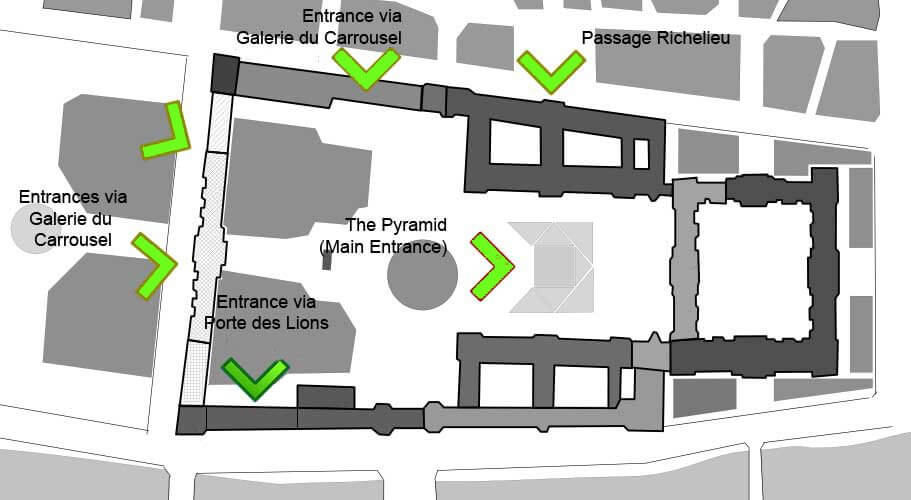 Louvre Map - Best Louvre Entrances 2019