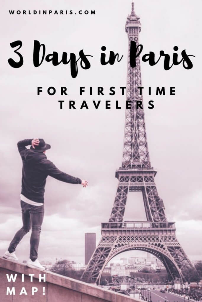 How to spend 3 days in Paris for someone who is visiting for the first time. 3 Days in Paris Itinerary. What should you do on your first time in Paris? Follow this 3-day Paris Itinerary and Paris map for your perfect 3 days in Paris. #France #Paris #Travel