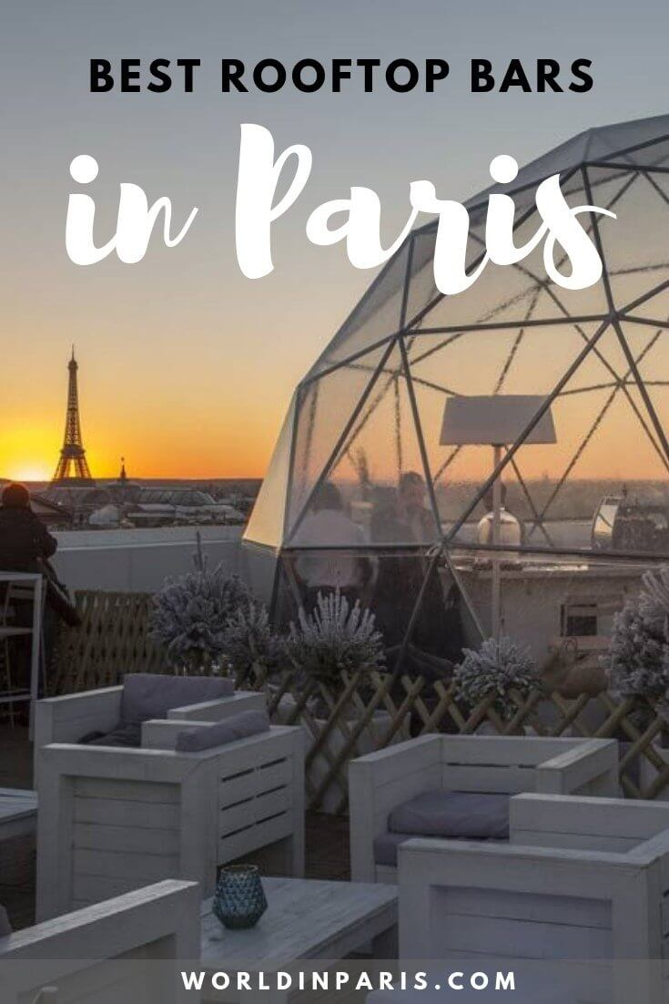 Best Rooftop Bars in Paris, best Paris rooftop bars, rooftops of Paris, best Paris sky bars, bars with view of Eiffel Tower #paris #parisatnight #moveablefeast