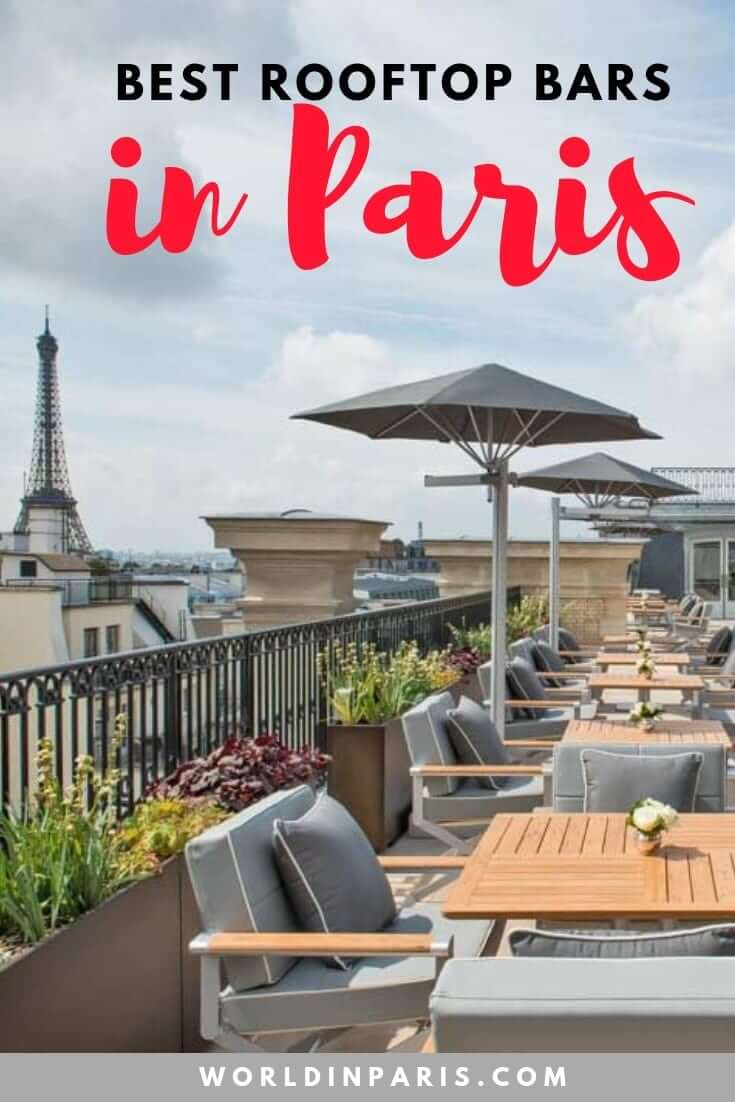 Have a look at the Best Rooftops Bars of Paris list, perfect to admire the Paris Skyline between the rooftops of Paris. Some of these Paris Rooftop bars come with a great Paris City View or with best views of the Eiffel Tower. Enjoy Paris at night from the best rooftop bars in Paris #paris #parisatnight #moveablefeast