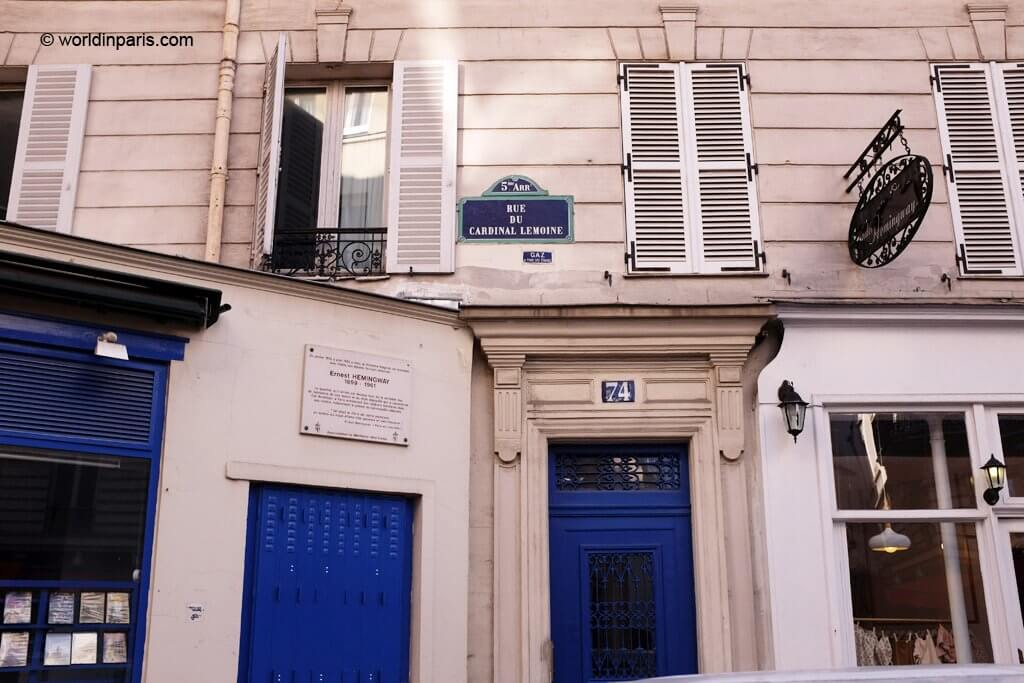 74 Rue Cardinal Lemoine Paris, Hemingway's first apartment
