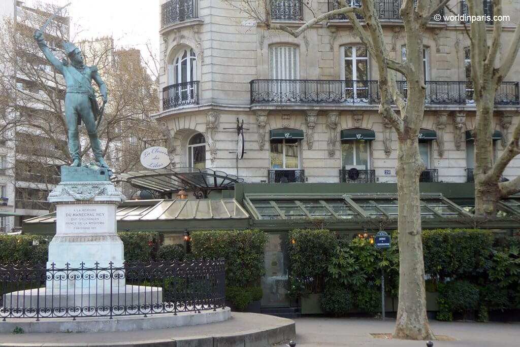Closerie des Lilas and Marechal Ney statue Paris