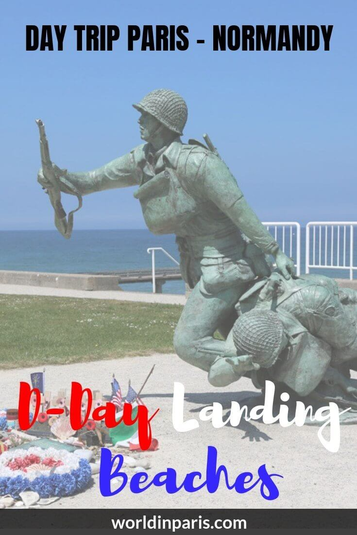 Read about one of the best day trips from Paris. Day Trip Paris to Normandy D-Day Landing Beaches, D-Day Sites, WW2 Sites, Beaches of Normandy France #dday #normandy #france #remember