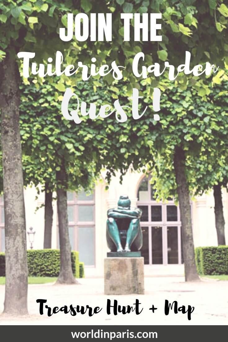 The Tuileries Garden Quest is a funny way to visit Jardin des Tuileries in Paris, Visit the Tuileries Garden in Paris differently! Paris Treasure Hunt with Map, Enjoy Paris Like a Local #paris #france #moveablefeast