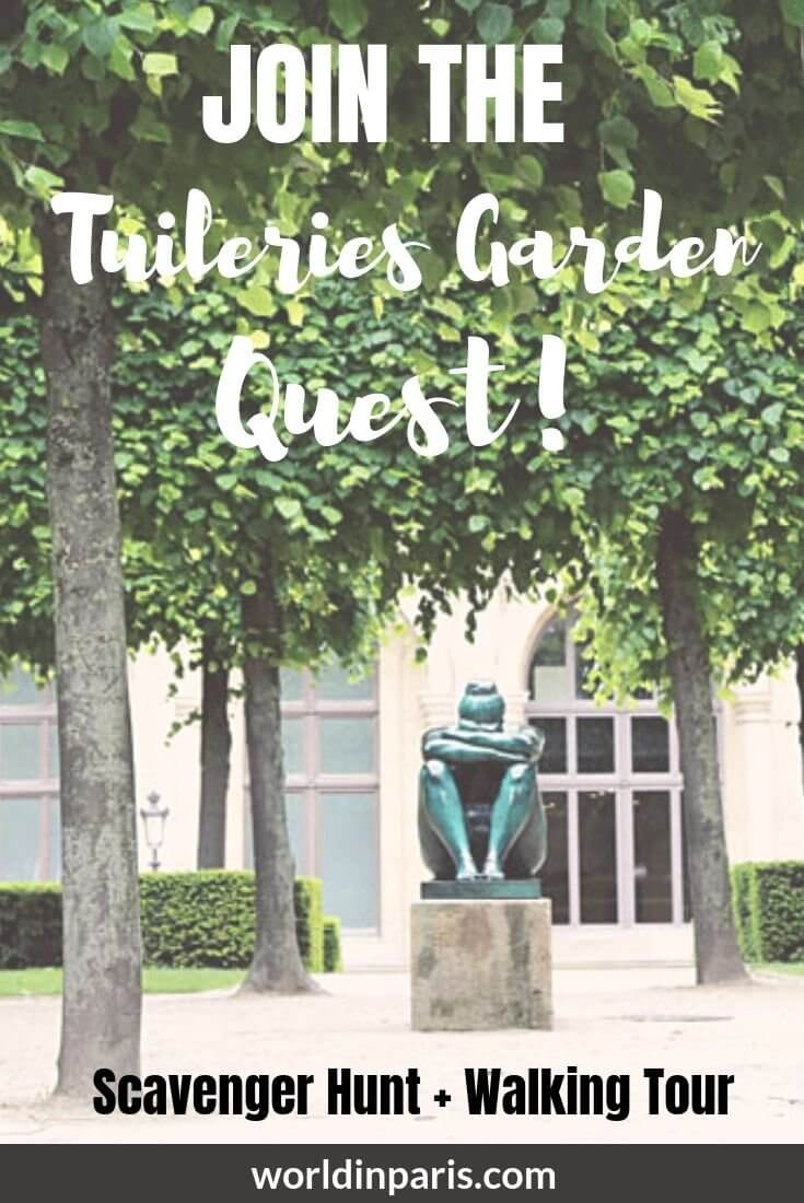 The Tuileries Garden Quest, Paris Scavenger Hunt + Walking Tour, is a fun way to visit Jardin des Tuileries in Paris. Visit the Tuileries Garden in Paris differently! This Scavenger Hunt in Paris comes with the Tuileries Garden Map #paris #scavengerhunt #moveablefeast