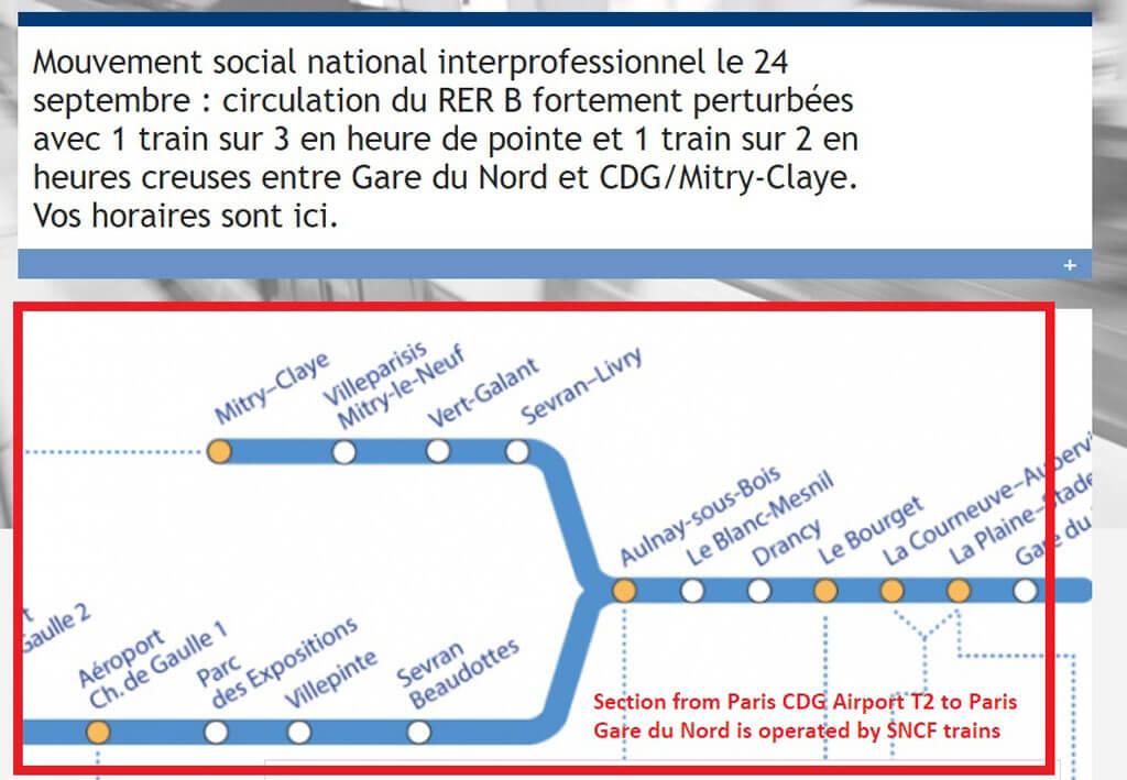 Strike sNCF trains Paris Airport to City