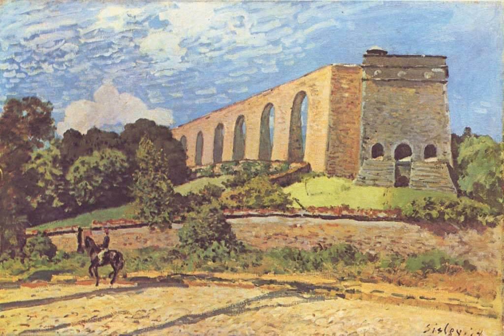 Aqueduct Louveciennes - Alfred Sisley