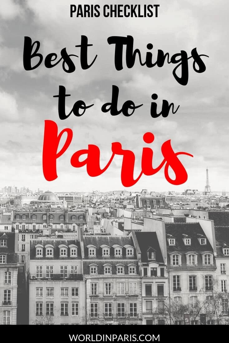 Visiting Paris soon? Have a look at our Best Things to do in Paris Checklist, with a list of things to do in Paris during your first time in Paris and top things to do during a second trip to Paris #paris #france