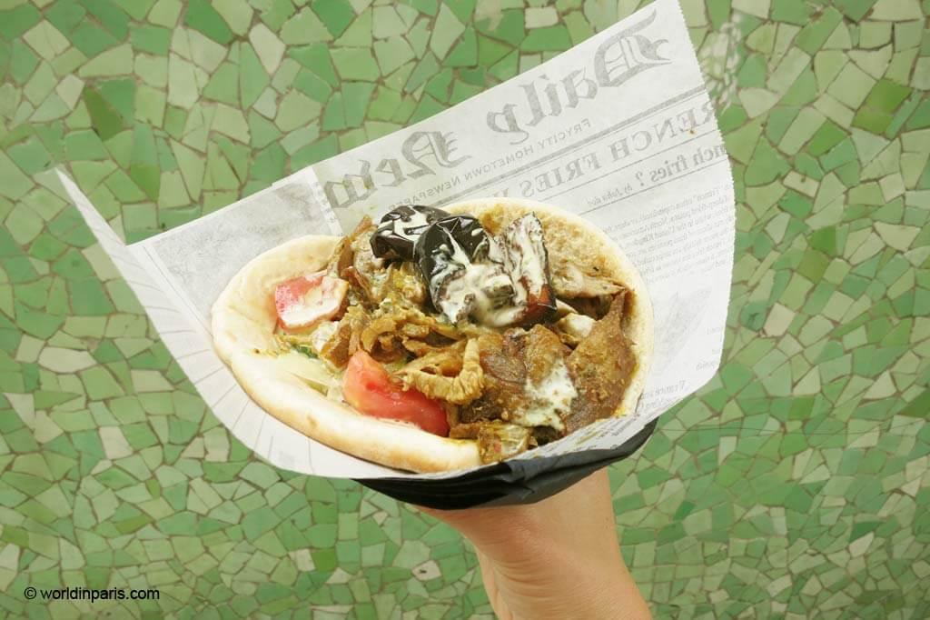 Kebab at Rue des Rosiers