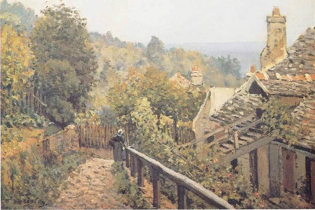 Sentier de Mi-Cote by Alfred Sisley