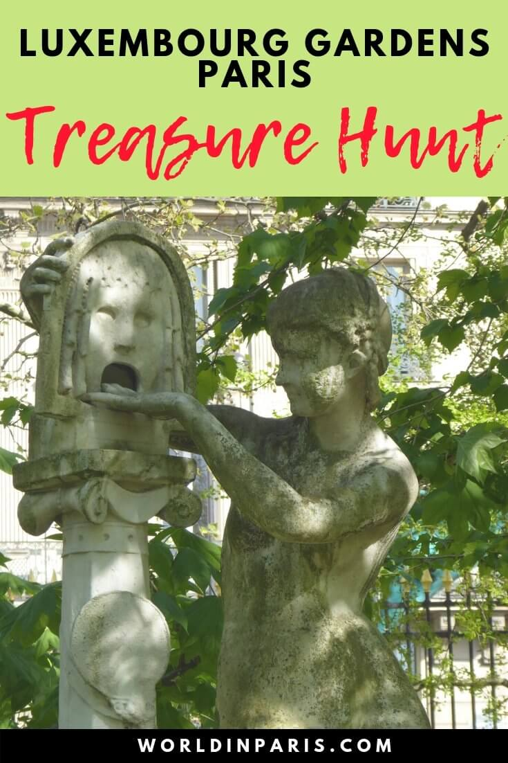Treasure Hunt in Paris Luxembourg Gardens. Have fun and visit Paris like a local with this Paris Treasure Hunt! Let's find the Queen's Hidden Treasures in Jardin du Luxembourg Paris
