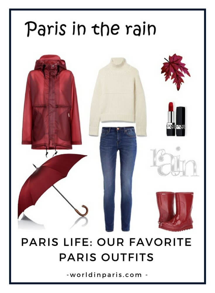 Paris when it rains, Rainy day in Paris, What to Wear in Paris when it rains, Packing for Paris, Visit Paris #parisoutfits #visitparis