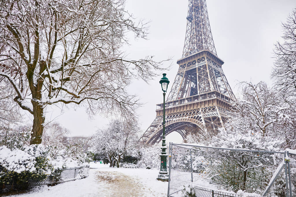 Winter Paris Eiffel Tower