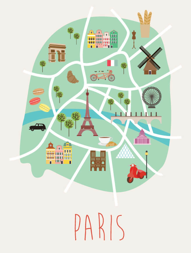 Arrondissements of Paris Map