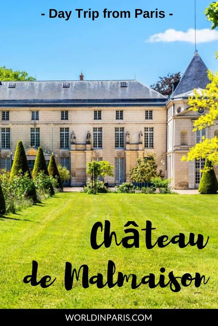 Visit Château de Malmaison, Joséphine Bonaparte's dearest home. The Château and Gardens at Malmaison are the perfect half-day trip from Paris! #paris #france