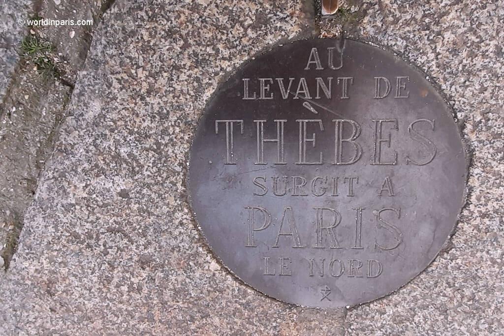 Au levant the THEBES surgit a PARIS le Nord