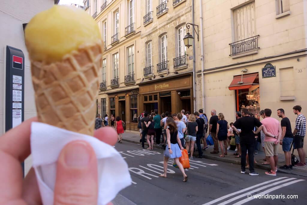Мороженое Berthillon Париж