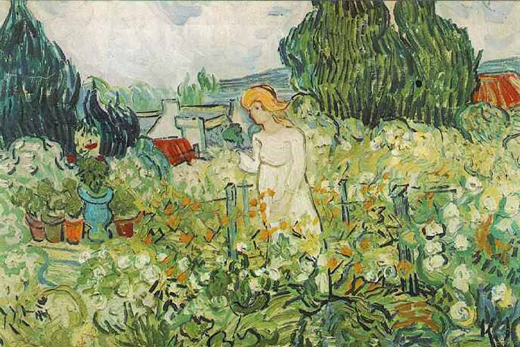 Mme Gachet in the Garden - Vincent Van Gogh