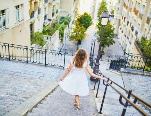 Iconic stairs of Montmartre