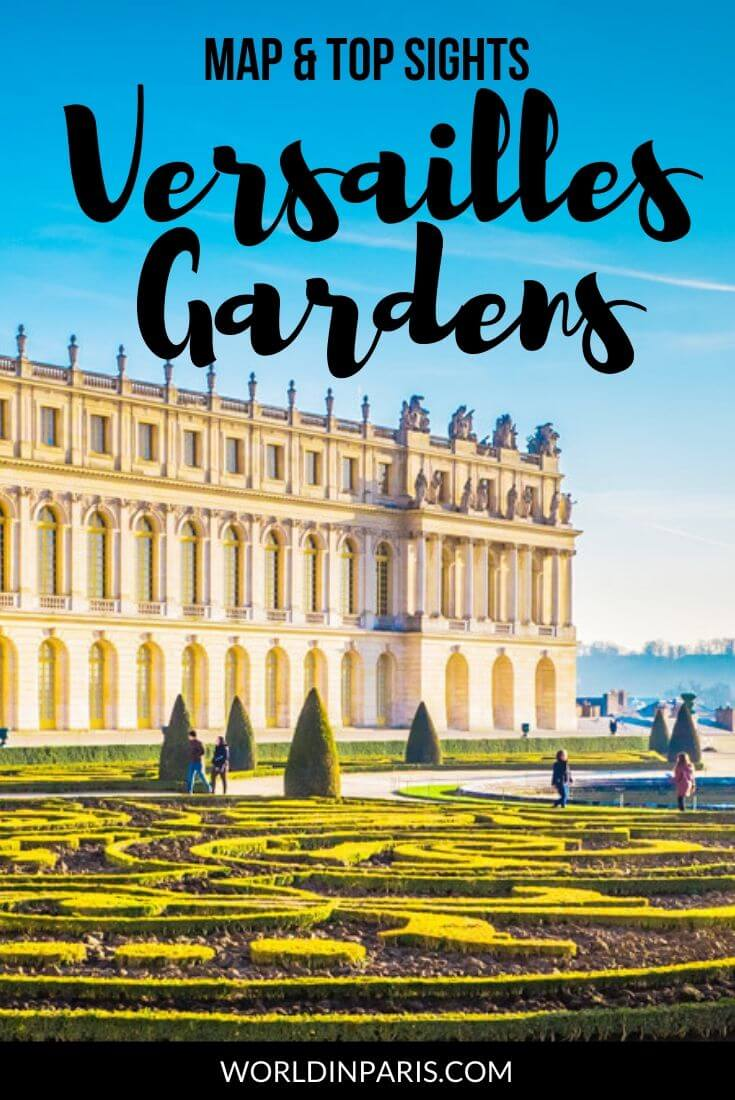 Versailles Gardens - Map and Top Sights