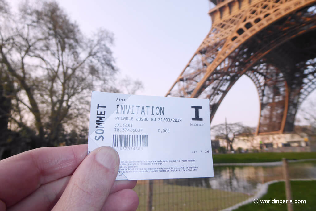 Eiffel Tower Ticket