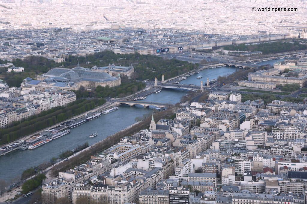Eiffel Tower - View over the Seine River