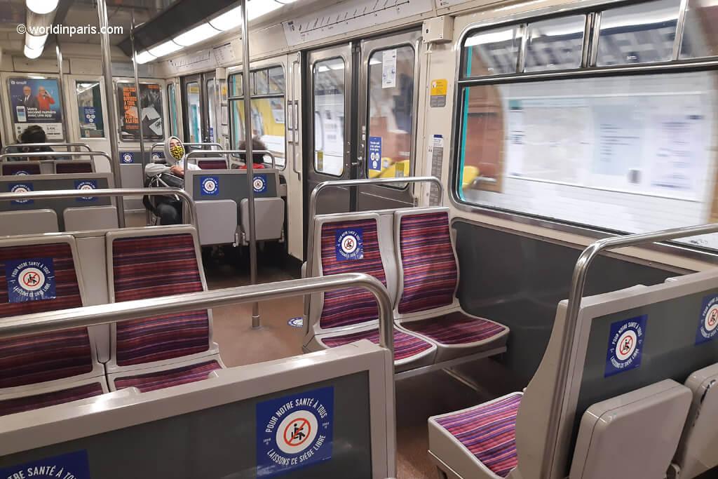 Metro of Paris after Lockdown