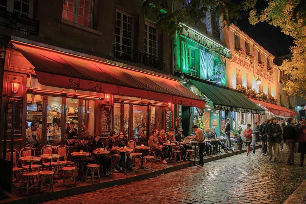 Paris Streets at Night