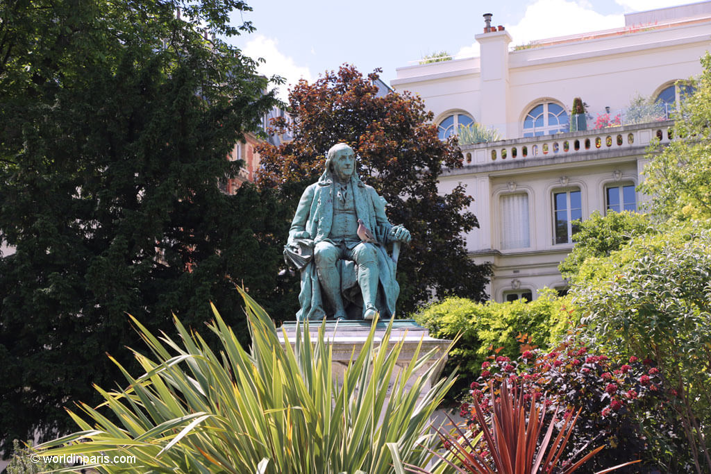 Benjamin Franklin - Square Yorktown Paris