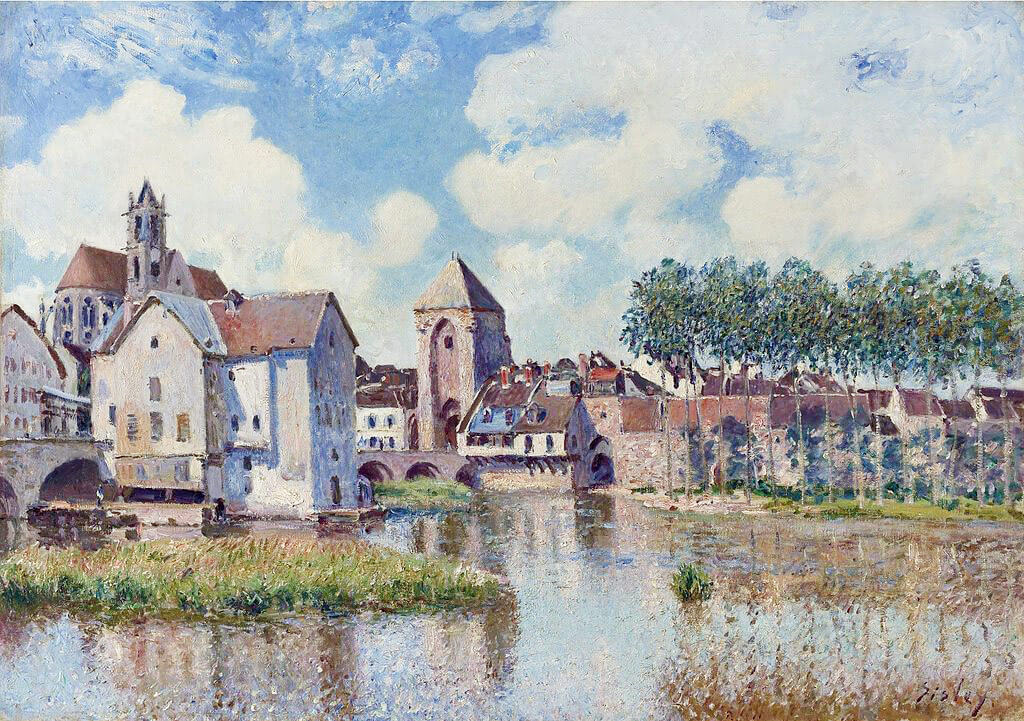 Alfred Sisley - Moret-sur-Loing (1891)
